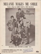 "THE STRANGERS  Rare 1970 Aust Only OOP Orig Sheet Music ""Melanie Makes Me Smile"""