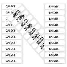 100 PRE-CUT IRON-ON SCHOOL NAME TAPES LABELS TAGS FOR  SCHOOLWEAR, CLOTHES, ETC