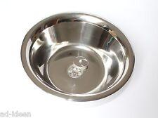 Edelstahl Spülbecken Spüle Waschbecken mit Ablauf 28 cm Ø