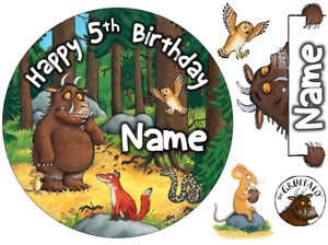 """GRUFFALO INSPIRED 6"""" / A3 SHEET ROUND PERSONALISED EDIBLE ICING CAKE TOPPER"""
