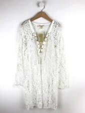 BNWT Michael Michael Kors Womens White Lace Chain Detail Dress Size S (Uk 10)