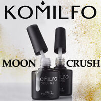 KOMILFO New collection MOON CRUSH Gel - Polish looks like grattol GOLD SILVER