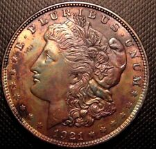 MORGAN SILVER DOLLAR TONED # E-78