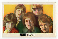 1960s Swedish Pop Star Card #38 The Shanes with Beatles Sectional Back