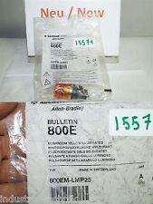 Allen Bradley 800em-lmp25 Mushroom push button Amber push