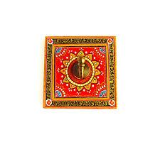 Dipinta a mano Rosso Gancio a muro, porta gancio, Collana Hanger display, in legno, Fair Trade