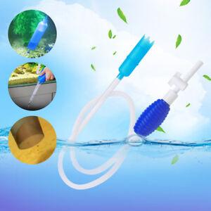Fish Tank Aquarium Gravel Water Filter Siphon Vacuum Pump PVC Clear Plastic Tube