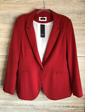 New! Lovely Red Single Button Lined Jacket. Size 22
