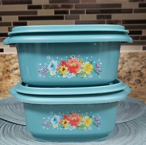 THE PIONEER WOMAN BREEZY BLOSSOMS 5 CUP FOOD STORAGE CONTAINERS SET OF 2 NEW