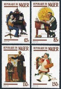 Niger 599-602,MNH.Michel 809-812. Norman Rockwell illustrations,1982.Ship,dog,