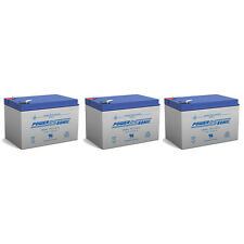 Power-Sonic 3 Pack - 12V 12Ah F2 Wheelchair Scooter Battery Replaces ToPin Tp12-