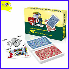 Carte da Gioco Modiano Ramino 98 ORIGINALI 2 Mazzi  98 Carte Poker