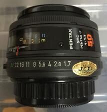 SMC Pentax-F 50 mm f1.7 primer Lente-Marco Completo