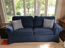 ikea ektorp idemo blue two seater sofa bed cover
