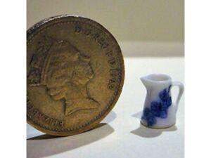 Dollhouse Miniature 1:24 Scale Enamel Style China Jug Blue and White - Imported