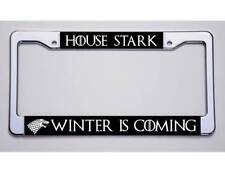 """GAME OF THRONES FANS! """"HOUSE STARK/WINTER IS COMING""""LICENSE PLATE FRAME"""