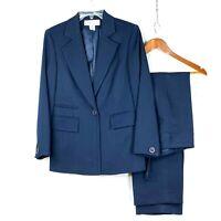 Jones New York Women Dark Blue Career Pant Suit sz 6