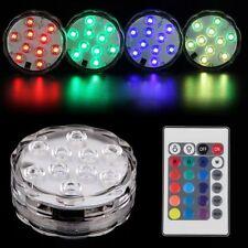Submersible Mehrfarbig RGB 10-LED Wasserdicht Vase Basis Licht mit Fernbedienung