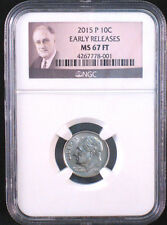 2015-P 10c FB Roosevelt Dime - NGC MS67 FT (Full Torch) Early Releases!