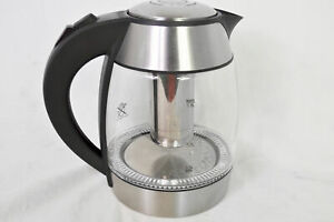 Chefman Cordless Glass Electric 1.8L Kettle, with Removable Tea Infuser