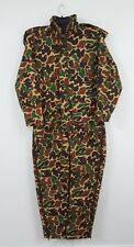 Woodland Hooded Full Body Zip Button Duck Camo Suit Mens Size M
