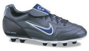 New Nike Womens Kids Volant FG-E Firm Ground Soccer Cleat Silver/Blue Sizes 5-6
