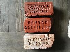 Lot Of 3 Antique Brick * Whiteselle Cherry Reds * Benton * Corsicana Brick Co.