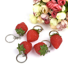 1Pc Simulation Strawberry Cell Phone Charm Bag Strap Keychain Pendant Decor Gift
