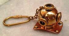 Scuba Diving Lot Of 50 Golden Helmets Brass Nautiluses Helmet Key rings BM201