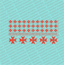 Ginfritter  WARCRO024 Prime Scale Iron Cross #2 Decal Red + Warhammer