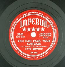 FATS DOMINO You Can Pack Your Suitcase/I Lived My Life 10IN 1954 R&B VG++LISTEN!