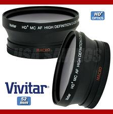 VIVITAR 0.43x 52mm Wide Angle Lens w/Macro For Nikon D3 D3X D3S D40 D40X D300S