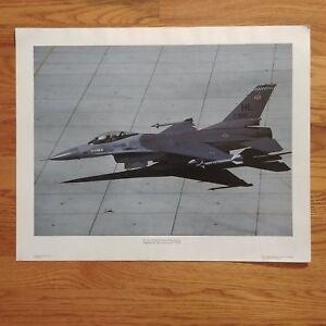 VTG Power Graphics Jet / Plane Photo Poster F-16 Fighting Falcon #004 - 16 x 20