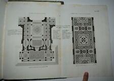 ARCHITETTURA - fig 1835 - TRATTATO DI EDIFICARE - RONDELET - 8 tavole