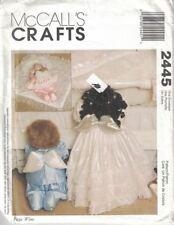McCalls Crafts 2445 Praying Sleeping Angel Baby Dolls & Clothes Pattern Uncut