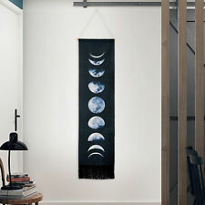 Wall Art Tapestry Gifts Moon Phase Lunar Display Wall Hanging Home Decor Black