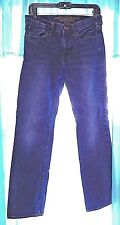 American Eagle Size 28/32 Original Straight Jeans Low Rise Faded Dark Wash