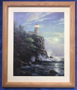American Art Ltd Edition Print Picture Split Rock Lighthouse By Thomas Kinkade
