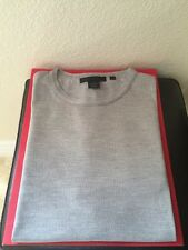 DONNA KARAN NEW YORK MENS $795 GRAY WOOL SWEATER NWOT SIZE M MADE IN ITALY 🇮🇹