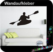 Kajak Kanu  Wandaufkleber Wandtattoo Paddel Boot Wassersport Sticker Folie  W465