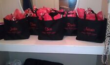 6 WEDDING TOTE Bag personalized THE PERFECT BRIDESMAID BRIDAL GIFT ADORABLE!!