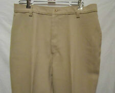 "Levi's ladies tan polyester Bend Over pants 31 w x 29.5"" ins. 42"" hips Ec"