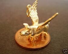 GORGEOUS 9CT GOLD SOLID 3D  ' FLYING PIG ' CHARM CHARMS