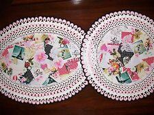 New Handmade Set of 2 Crochet Doilies--Victorian/Romantic/Valentine's Day