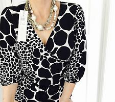 CHARLIE BROWN DESIGNER PRINT Made In AU SEXY WORK PARTY TOP NEW SZ 14