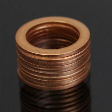 Brake Line Crush Washer LOT Honda Yamaha 750 850 1000 fz cbr cb 10mm copper