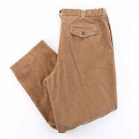 Vintage L.L.BEAN Comfort Waist Brown Cord Regular Straight Pants Mens W38 L32