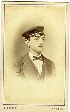 PHOTO CDV HAMELN Germany Degèle un élève pose uniforme circa 1880
