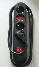 Bachmann 4-fach Steckdosenleiste mit Schalter Schwarz 1.5m (381.130K)