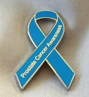 ***NEW*** Prostate Cancer Awareness ribbon enamel badge / brooch.Charity.